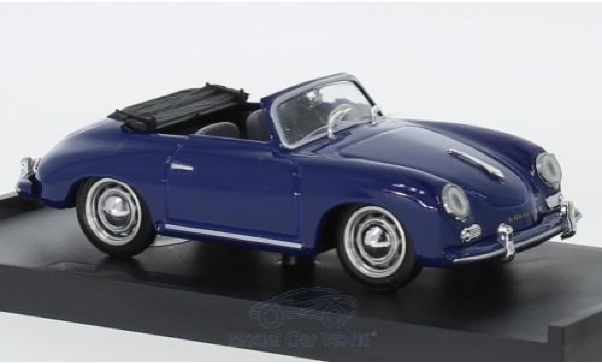 Porsche 356 1/43 Brumm Cabriolet bleue 1952