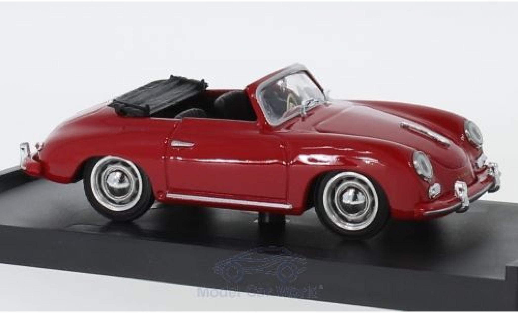 Porsche 356 1/43 Brumm Cabriolet rouge 1952