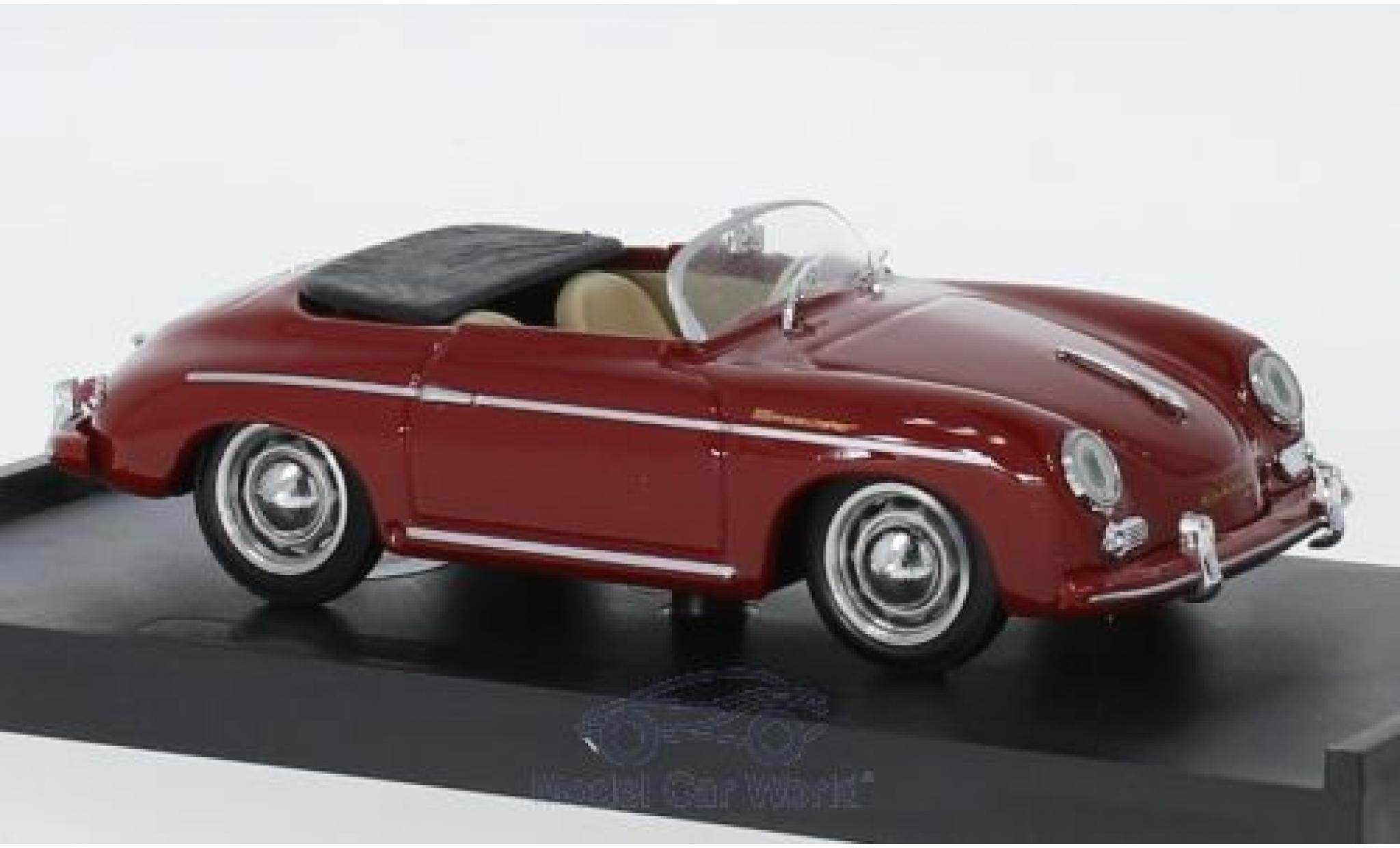Porsche 356 1/43 Brumm Speedster red 1952