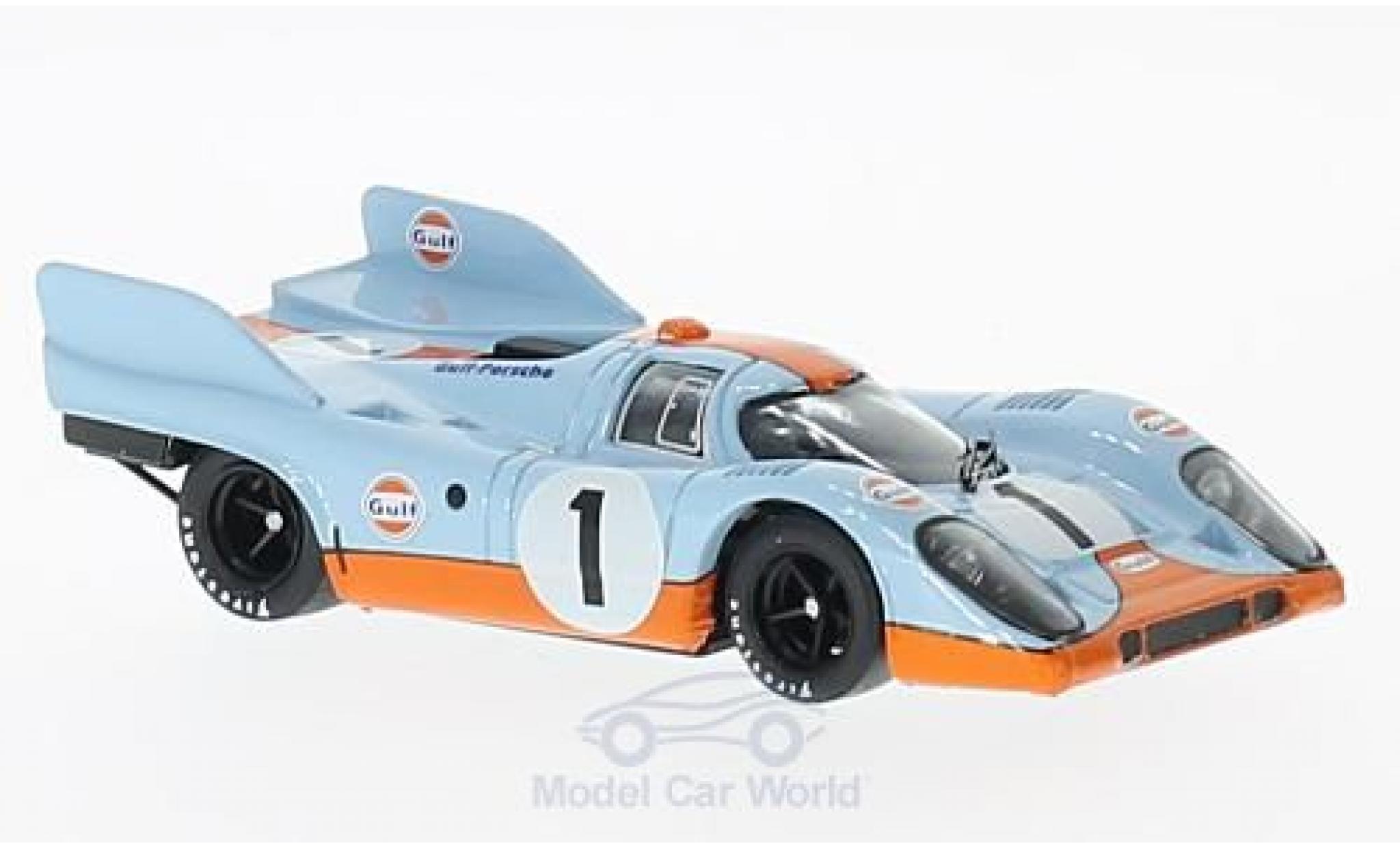 Porsche 917 1971 1/43 Brumm K No.1 Scuderia JWA-Gulf Gulf 1000km Monza J.Siffert/D.Bell