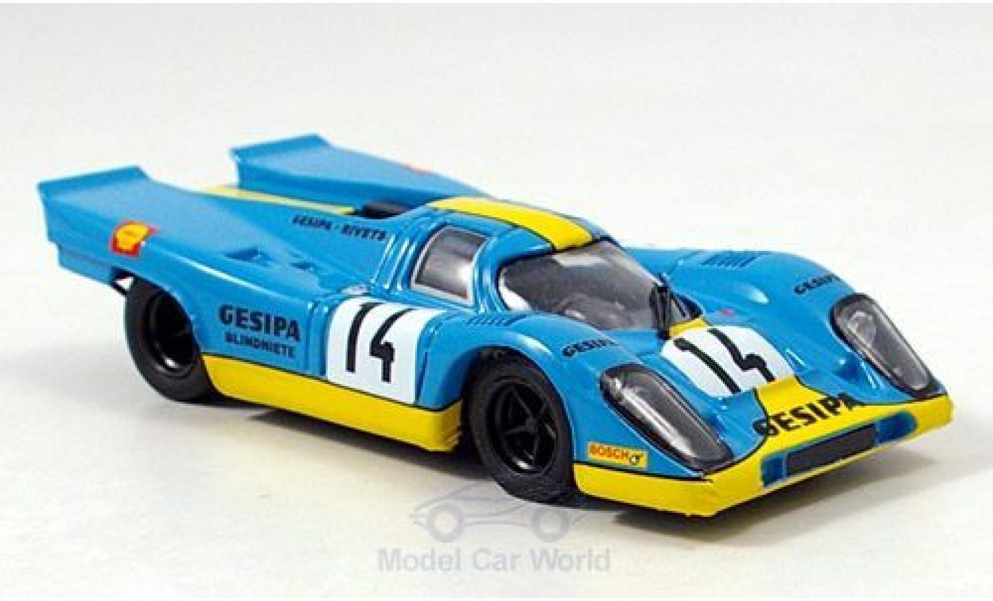 Porsche 917 1970 1/43 Brumm K No.14 Gesipa Racing Team 1000km Monza J.Neuhaus/R.Kelleners