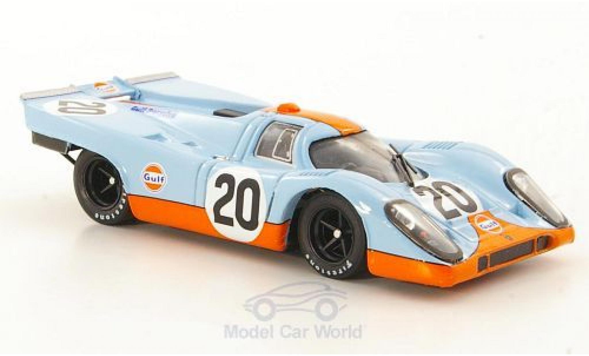 Porsche 917 1970 1/43 Brumm K No.20 JWA-Gulf Racing Team 24h Le Mans J.Siffert/B.Redman ohne Vitrine