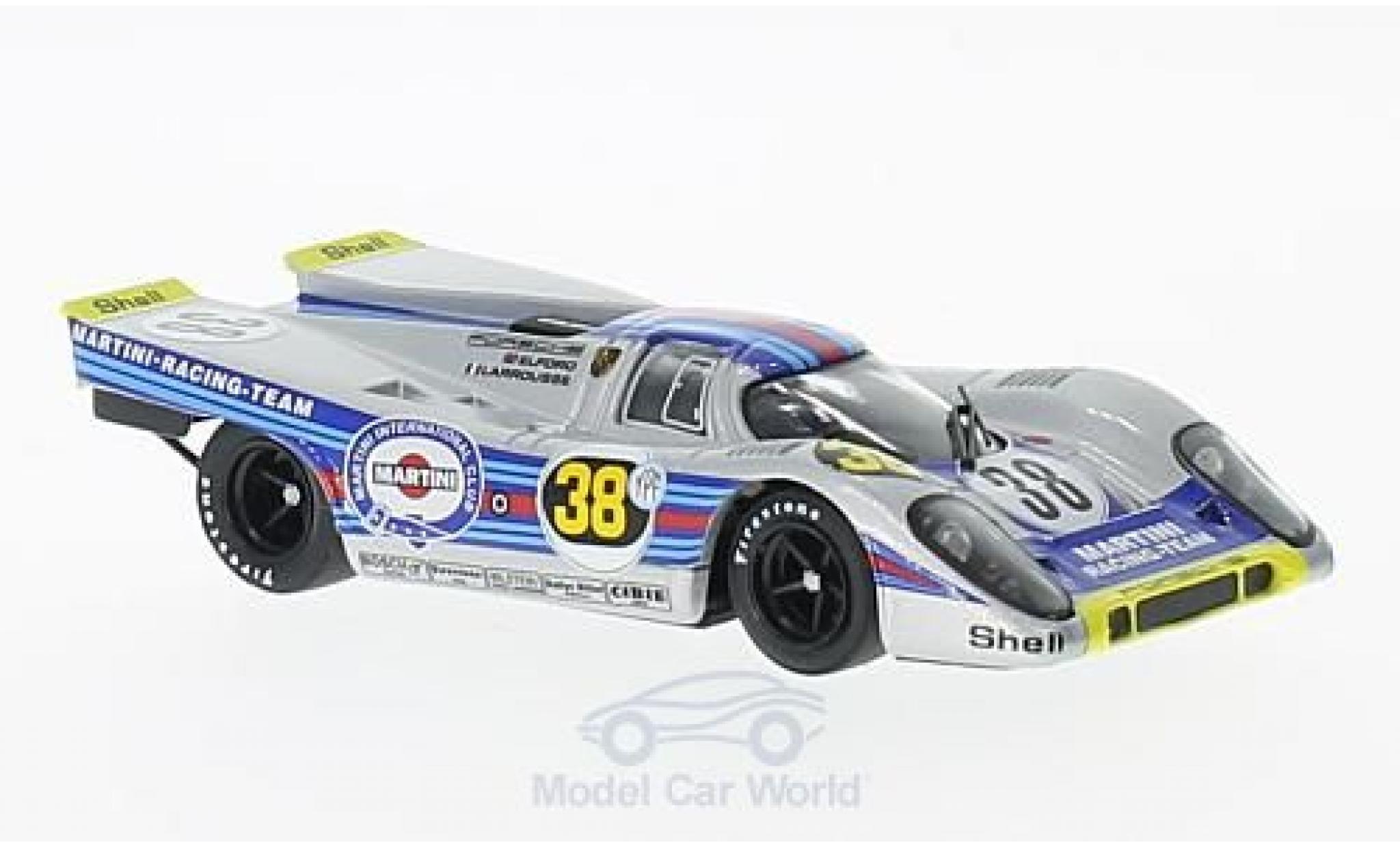 Porsche 917 K 1/43 Brumm K No.38 Martini Racing Team Martini 1000 Km Buenos Aires 1971 V.Elford/G.Larrousse