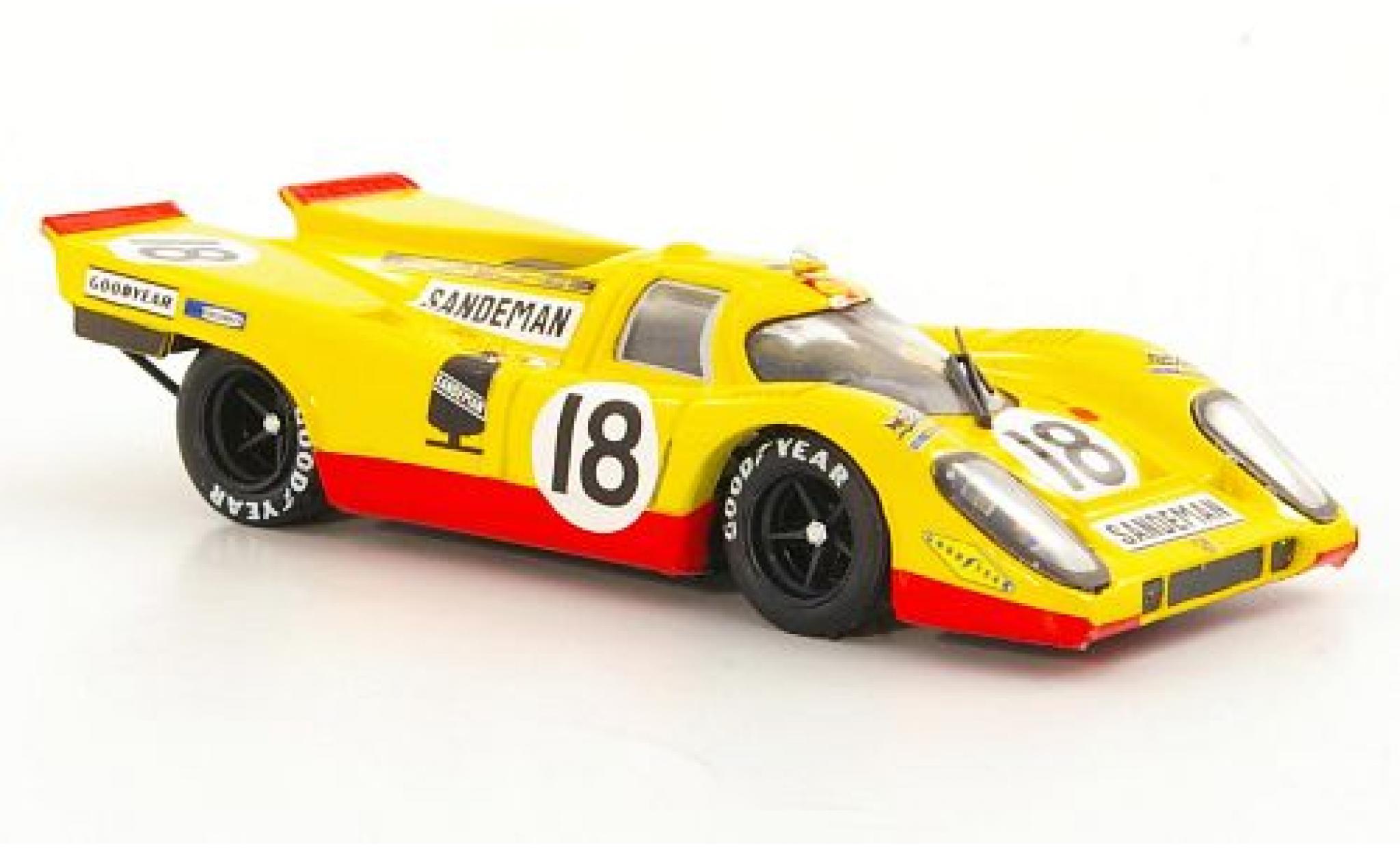 Porsche 917 1970 1/43 Brumm K RHD No.18 David Piper Racing Sandeman 24h Le Mans D.Piper/G.van Lennep