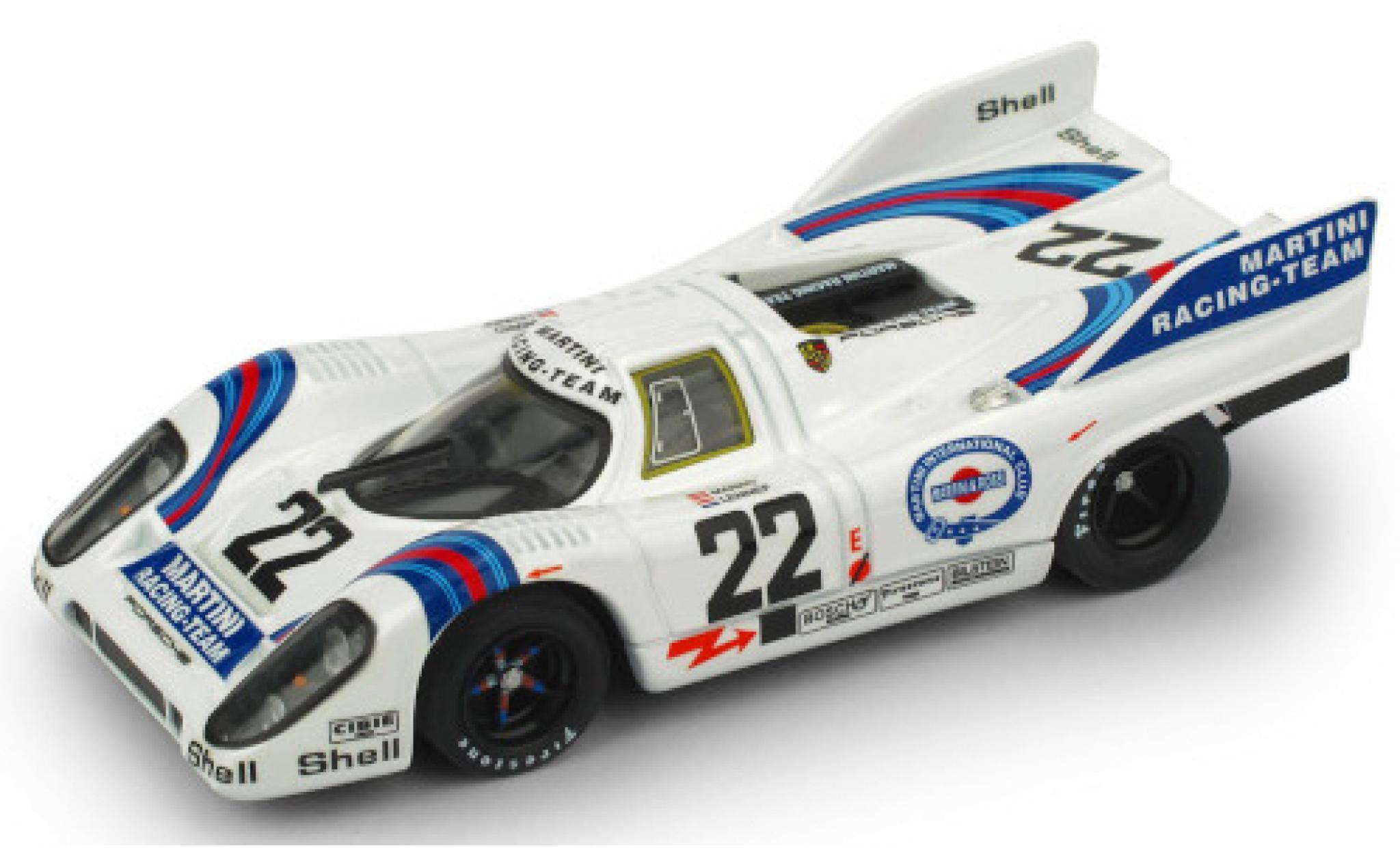 Porsche 917 1971 1/43 Brumm K RHD No.22 Martini Racing Team Martini 24h Le Mans H.Marko/G.van Lennep