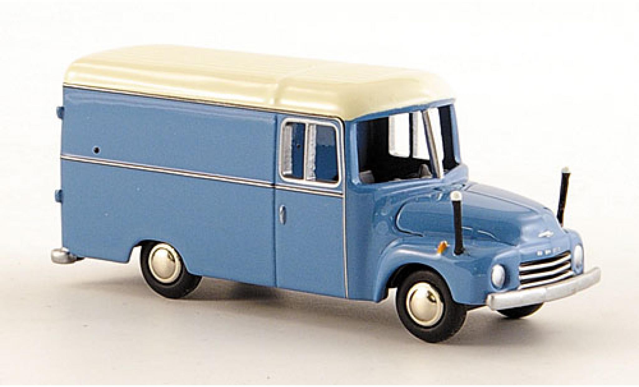 Opel Blitz 1/87 Bub 1.75t Kasten bleue/blanche