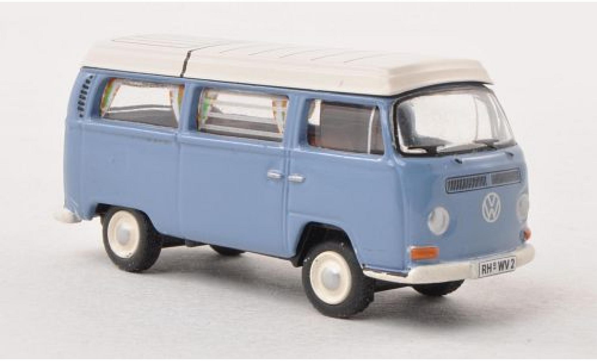 Volkswagen T2 1/87 Bub Camping bleue/blanche