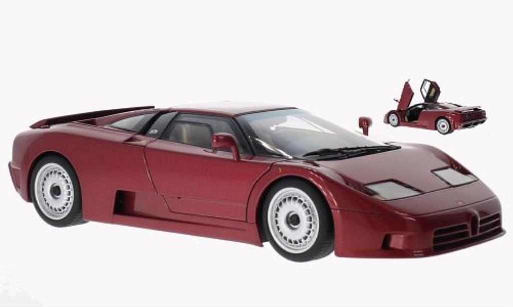 Bugatti EB110 1/18 Autoart GT metallise rouge 1991 miniature