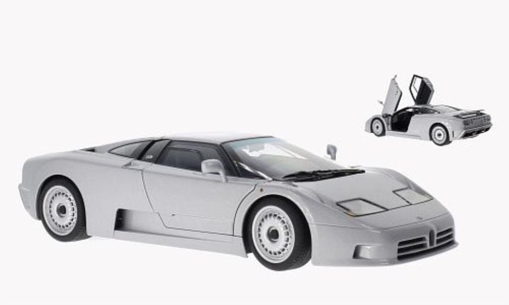 Bugatti EB110 1/18 Autoart GT metallise grise 1991 miniature