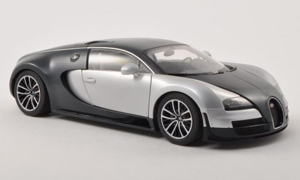 Bugatti Veyron 16.4 1/18 Autoart Super Sport carbon-bleu/grey 2010 diecast model cars