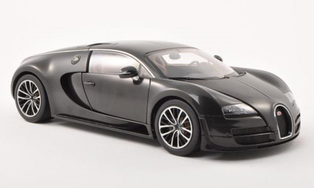 Bugatti Veyron 16.4 1/18 Autoart Super Sport carbon-black 2010 diecast model cars