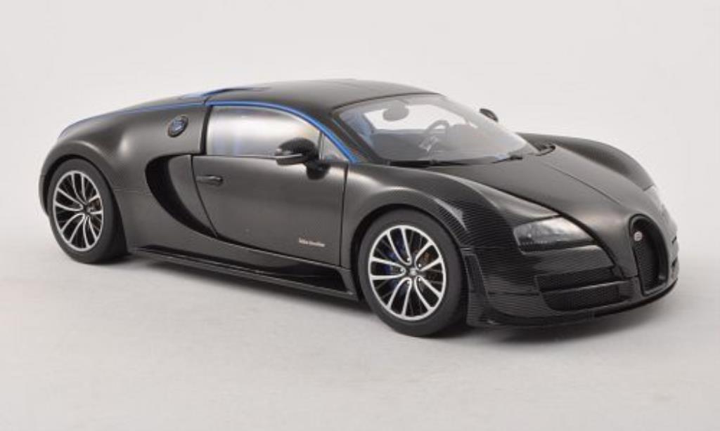 Bugatti Veyron 16.4 1/18 Autoart Super Sport Edition Merveilleux black 2011 diecast model cars