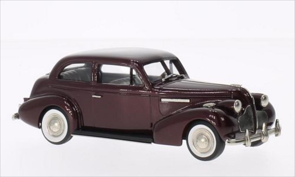 Buick Century 1/43 Brooklin 2-door Touring Sedan M-68 metallise rouge 1939 miniature