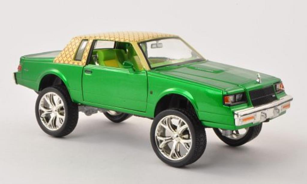 Buick Regal 1/24 Motormax Tuning grun/jaune mit Dekor 1987 miniature