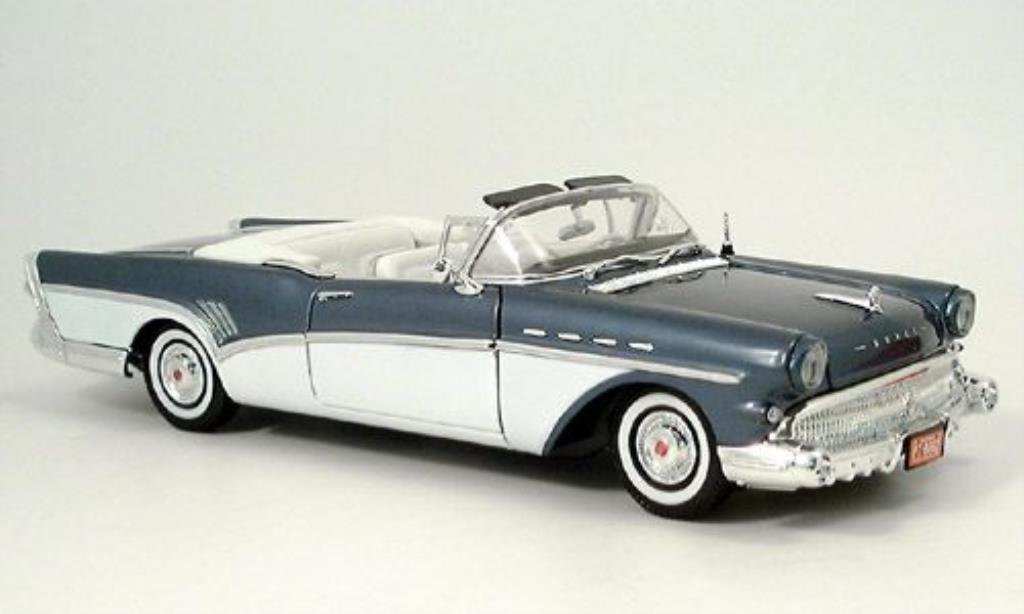 Buick Roadmaster 1/18 Motormax Convertible bleu/blanche 1957 miniature