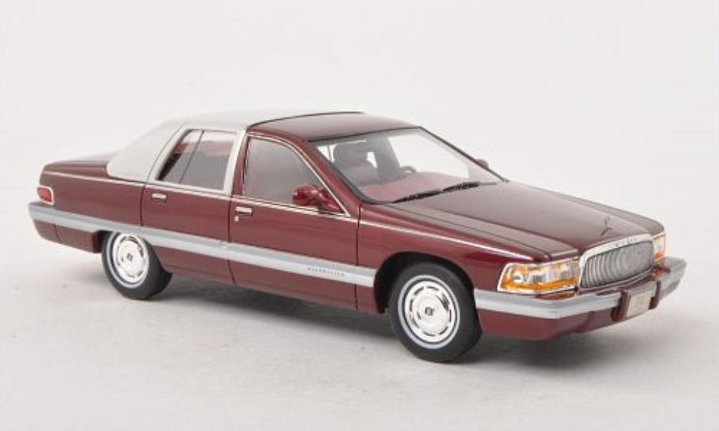 Buick Roadmaster 1/43 GLM rouge/matt-blanche 1994 miniature