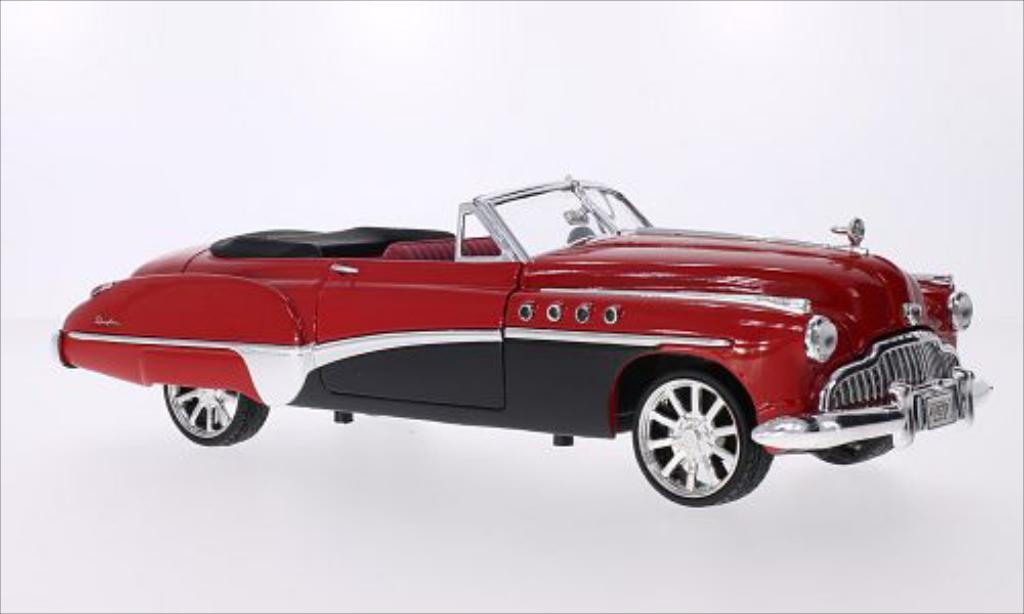 Buick Roadmaster 1/18 Motormax Tuning rouge/noire 1949 miniature