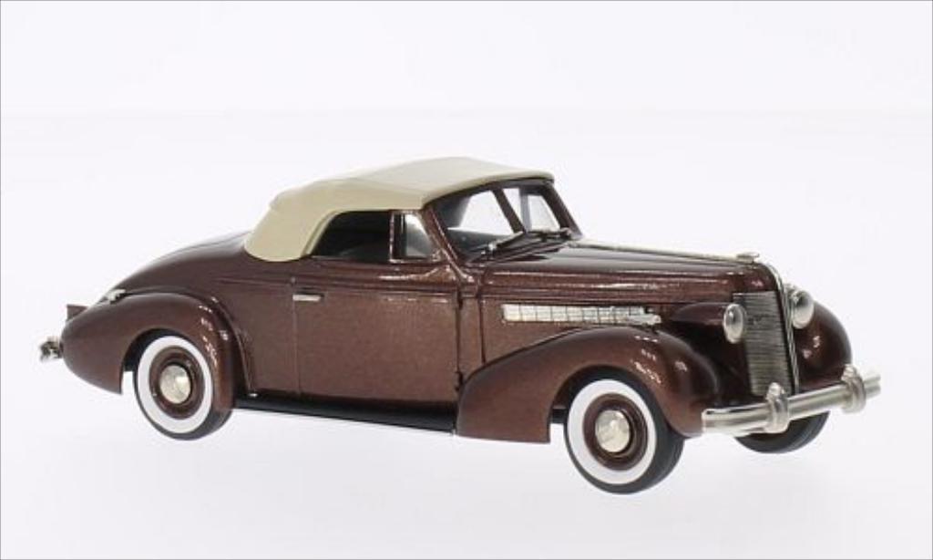Buick Special 1/43 Brooklin Convertible Coupe M46-C metallise marron/marron 1937 miniature