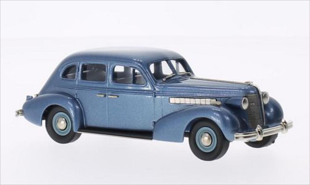 Buick Special 1/43 Brooklin Plain Back 4-door Sedan M-47 metallise bleu 1937 miniature