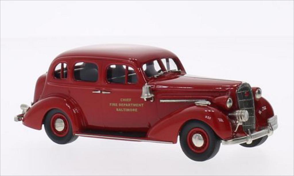Buick Special 1/43 Brooklin Sedan Baltimore Fire Chief rouge 1936 miniature
