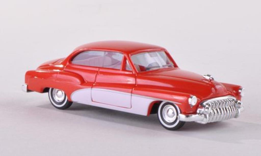 Buick Special 1/87 Busch Series 40 Deluxe rouge/blanche 1950 miniature