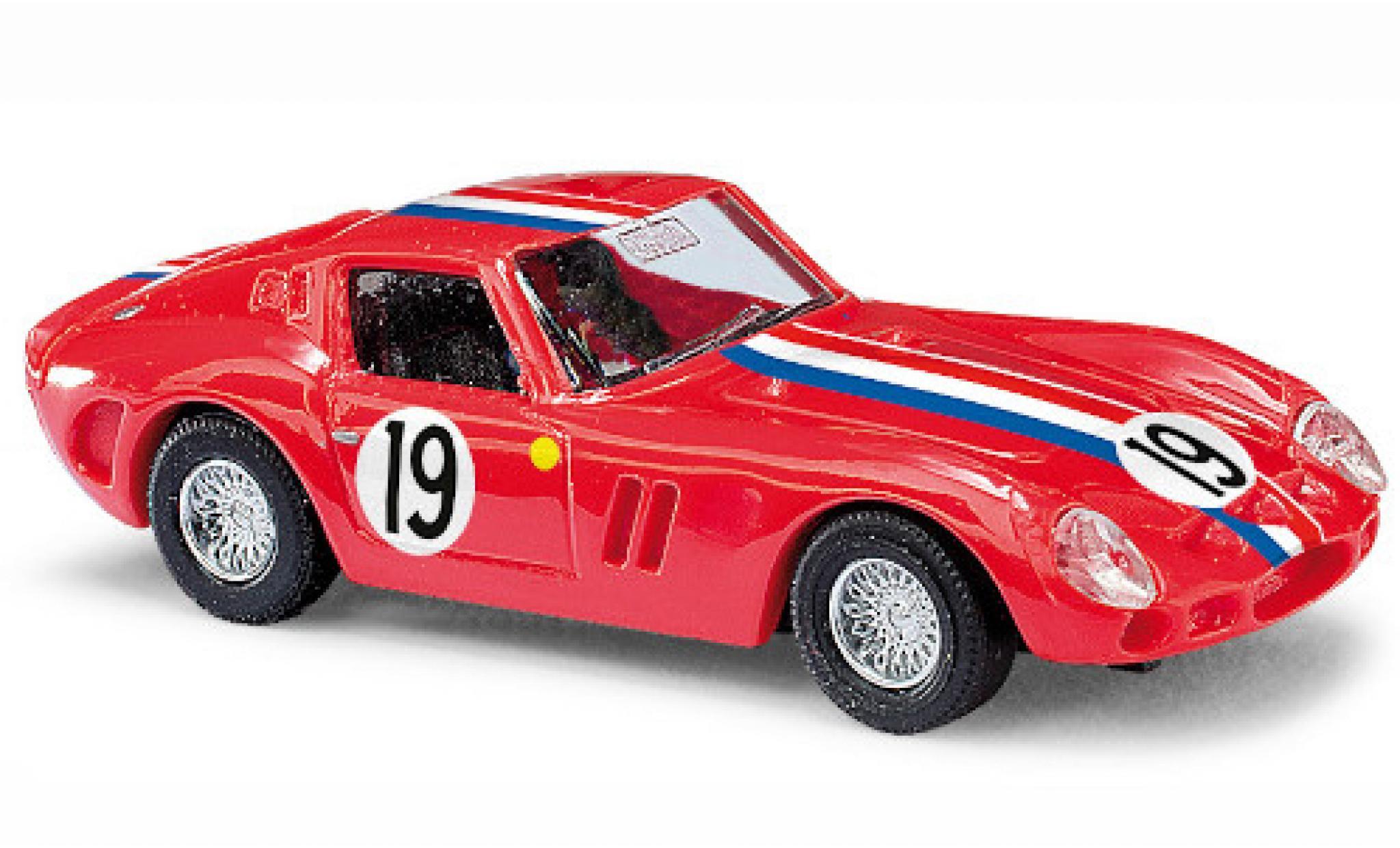 Ferrari 250 1/87 Busch GTO rouge/Dekor No.19