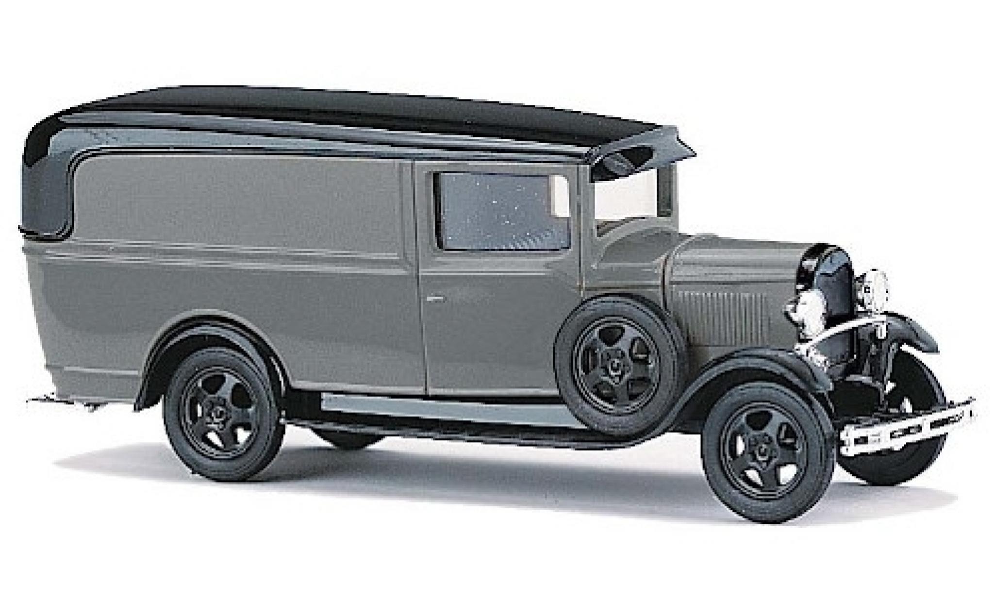 Ford Model A 1/87 Busch A grise/noire