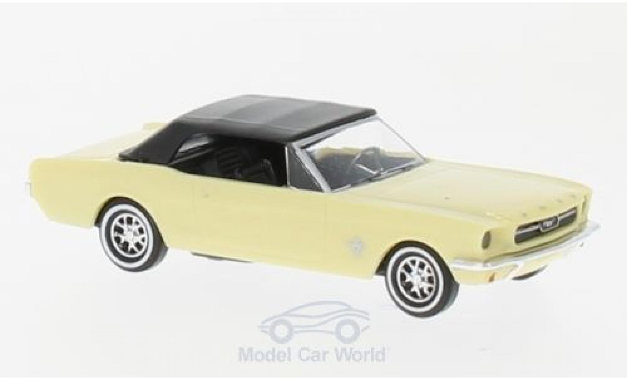 Ford Mustang 1/87 Busch Cabrio jaune 1964 mit Softtop