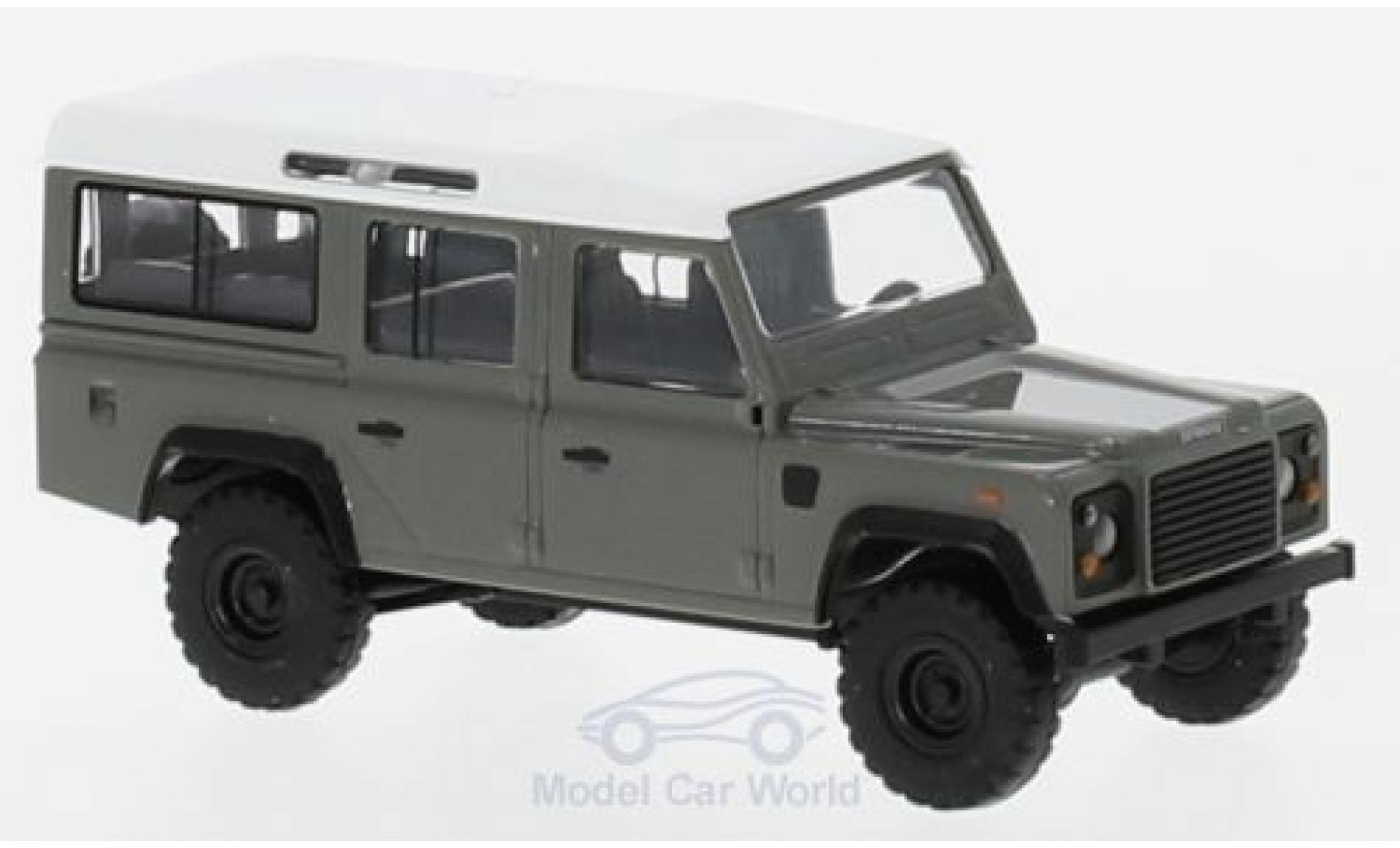 Land Rover Defender 1/87 Busch grise/blanche