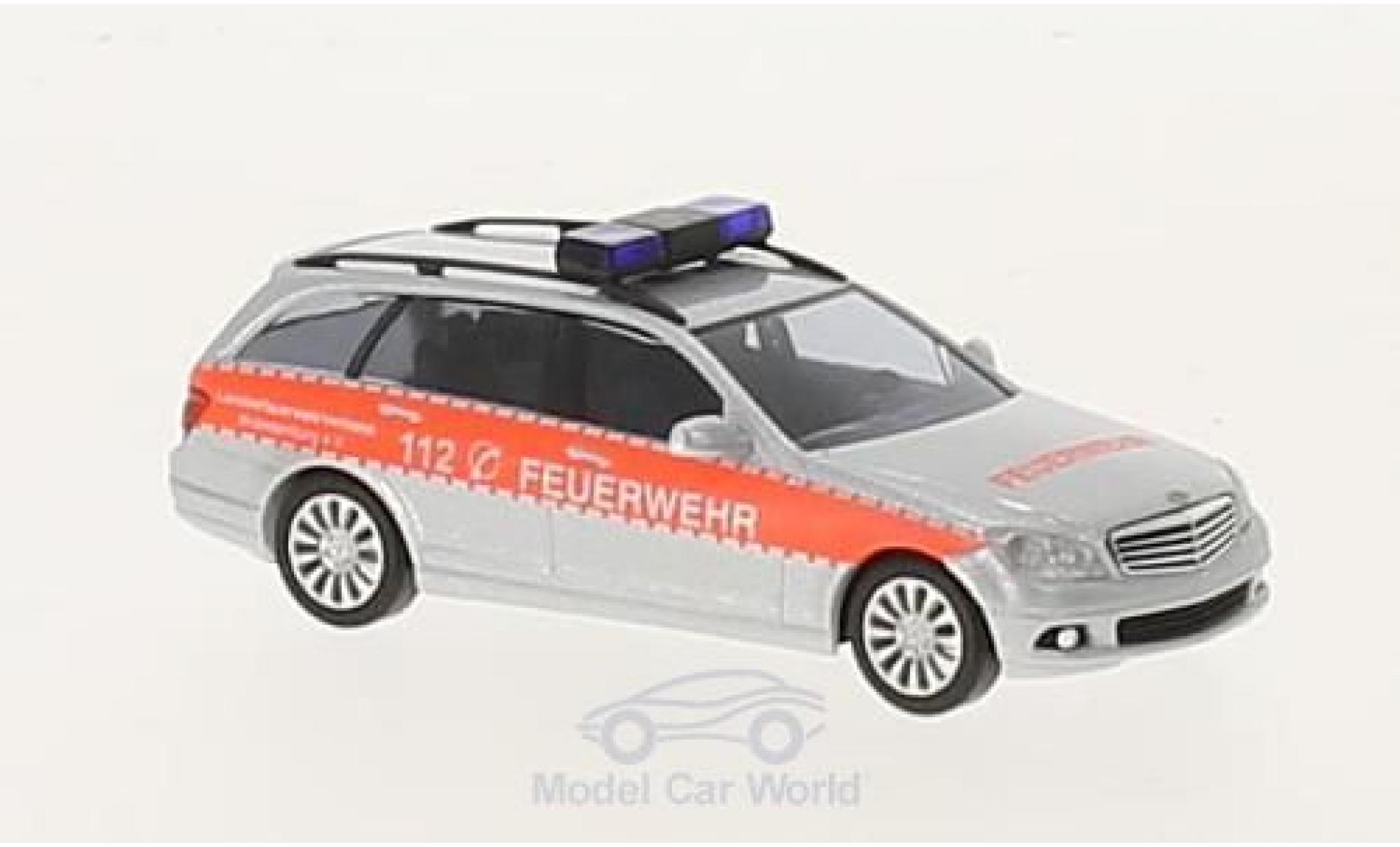 Mercedes Classe C 1/87 Busch T-Modell Feuerwehr 2007