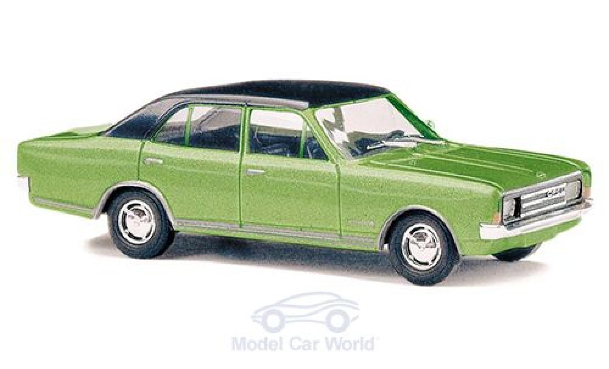 Opel Rekord 1/87 Busch C métallisé verte/noire 1966
