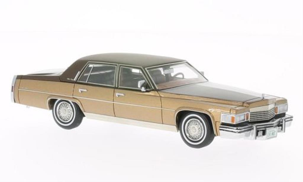 Cadillac Fleetwood Brougham 1/43 Matrix marron 1978 miniature