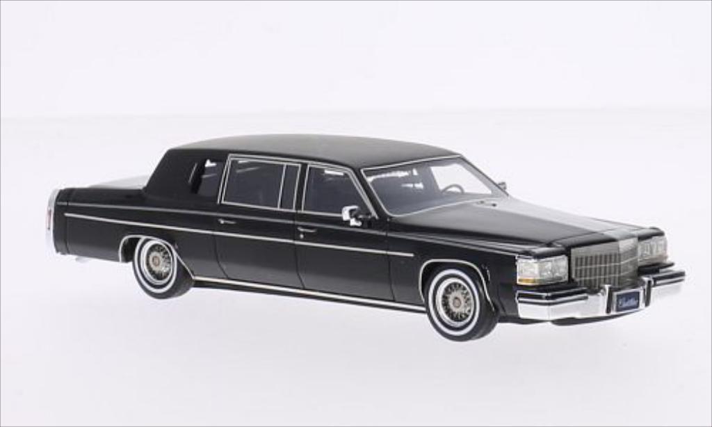 Cadillac Fleetwood 1/43 GLM Formal Limousine noire/matt-noire 1984 miniature