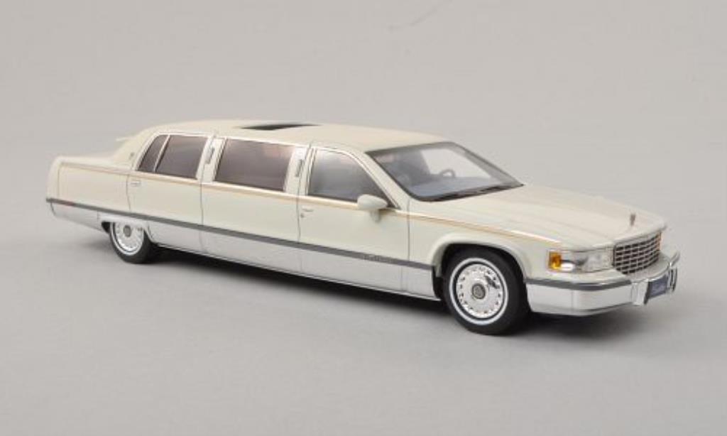 Cadillac Fleetwood 1/43 GLM Limousine white/matt-white 1991 diecast model cars
