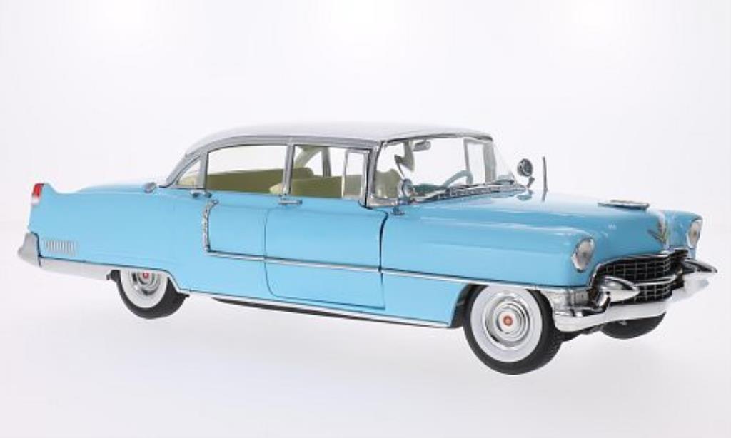 Cadillac Fleetwood 1/18 Greenlight Series 60 Special bleu/blanche 1955 miniature