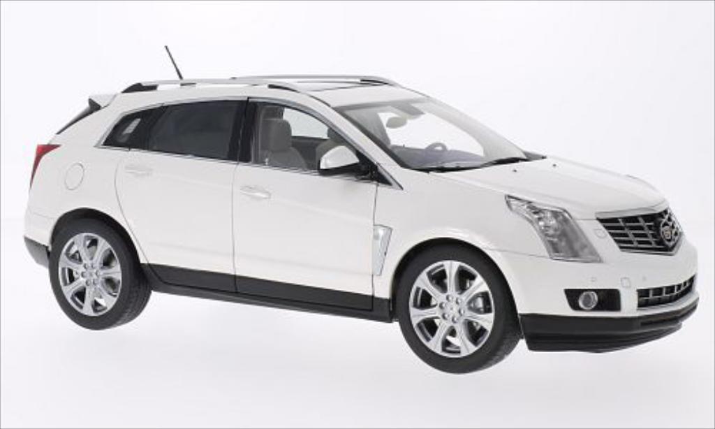 Cadillac SRX 1/18 Kyosho Crossover metallise blanche 2014 miniature