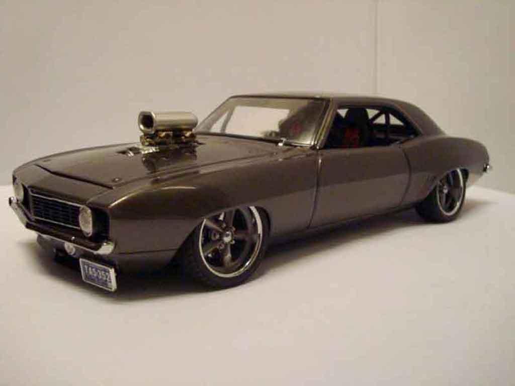 chevrolet camaro z28 1969 pro street gmp diecast model car 1/18
