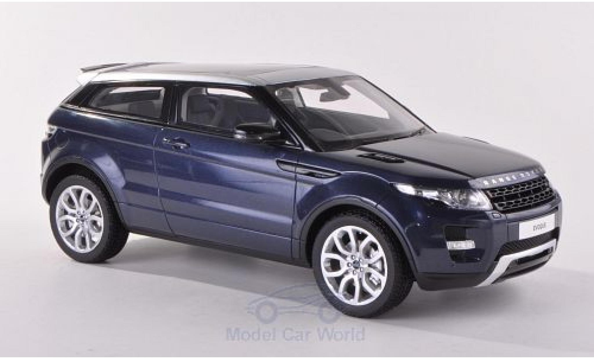 Land Rover Range Rover 1/18 Century Dragon Evoque metallise bleue RHD 2011 ohne Vitrine