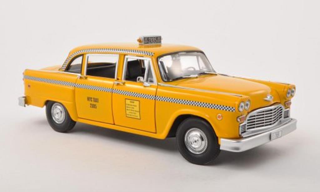 Checker Taxi 1/18 Greenlight Cab NYC Taxi Friends 1977 modellautos