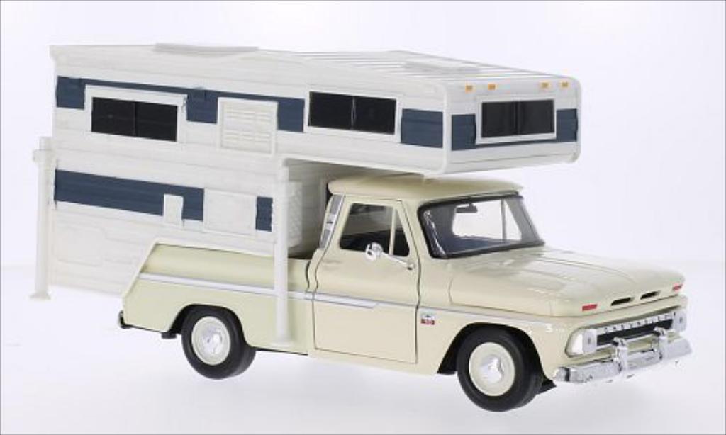 Chevrolet C-10 1/24 Motormax Custom beige miniature
