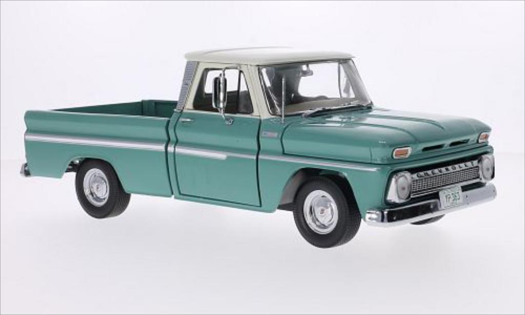 Chevrolet C-10 Styleside Pick Up green/beige 1965 MCW. Chevrolet C-10 Styleside Pick Up green/beige 1965 miniature 1/18