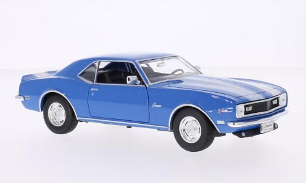 Chevrolet Camaro Z28 1/24 Welly bleu/white 1968 diecast model cars