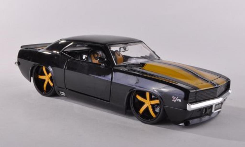Chevrolet Camaro Z28 1/24 Jada Toys Toys noire/jaune 1969 miniature
