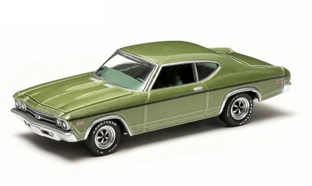 Chevrolet Chevelle 1/64 Greenlight Copo grun 1969 diecast model cars