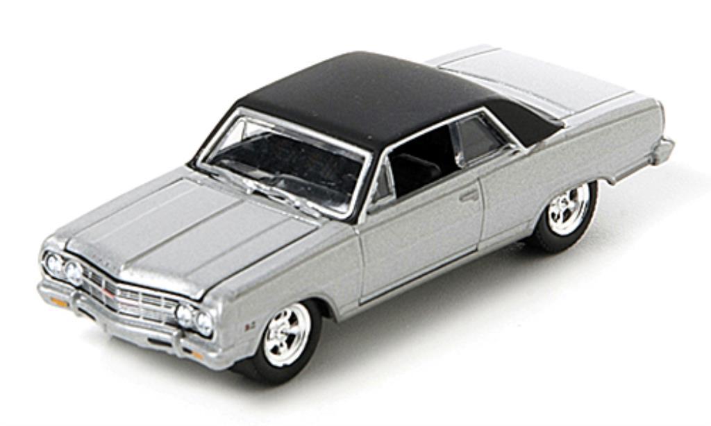 Chevrolet Chevelle 1/64 Greenlight grisegrise/noire 1965 miniature