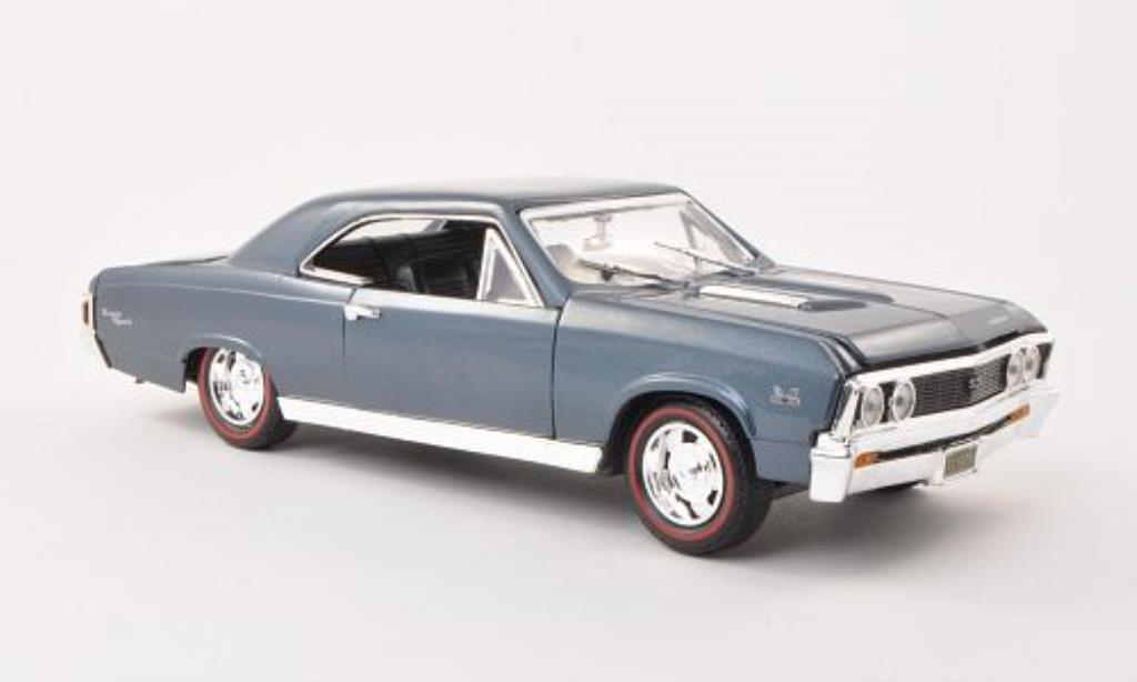 Chevrolet Chevelle 1/18 Motormax SS 396 grise-bleu 1967 miniature
