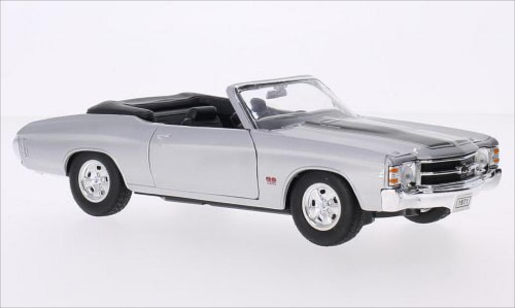 Chevrolet Chevelle 1/24 Welly SS 454 Convertible grey/black 1971 diecast model cars