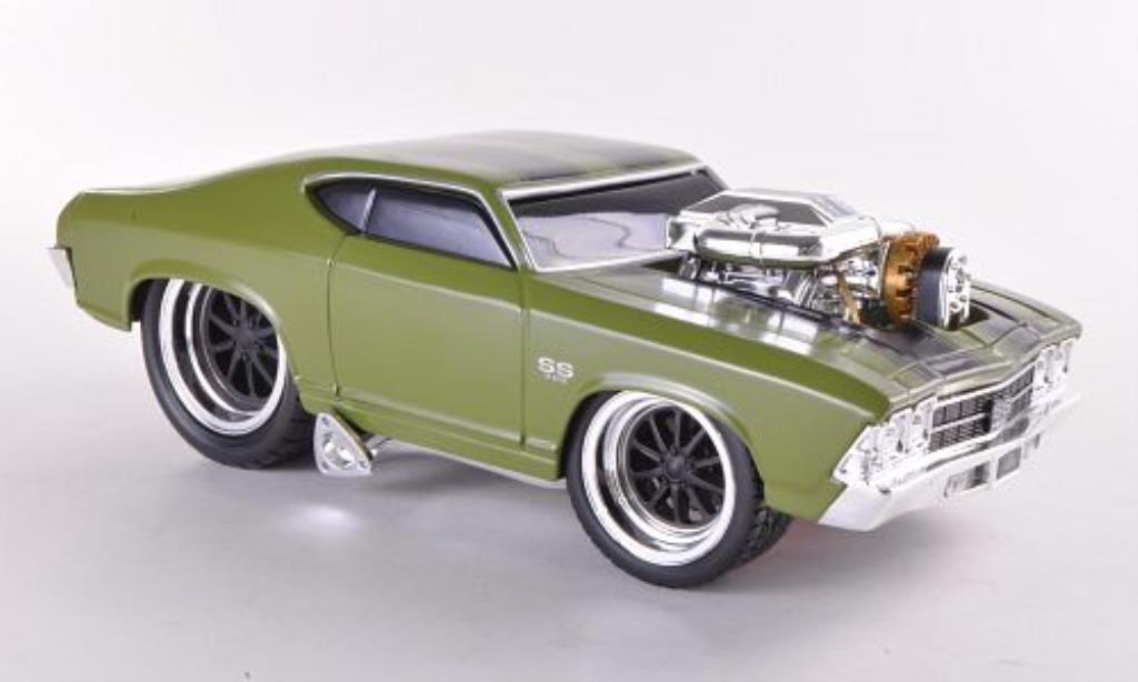 Chevrolet Chevelle 1/24 Maisto SS oliv verde 1969 miniatura