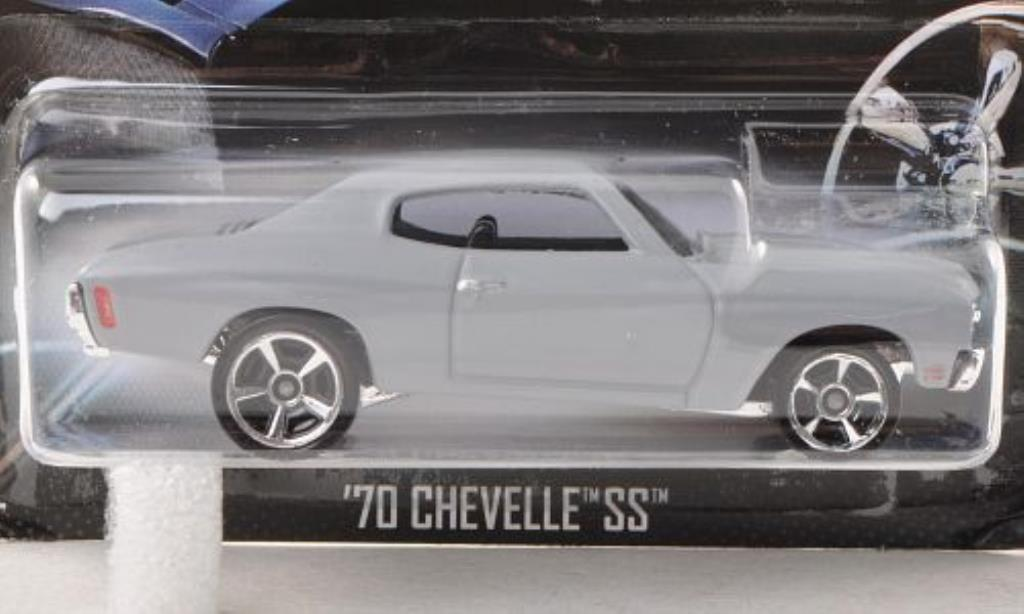 Chevrolet Chevelle 1/64 Hot Wheels SS Tuning matt-grise Fast & Furious 1970 miniature