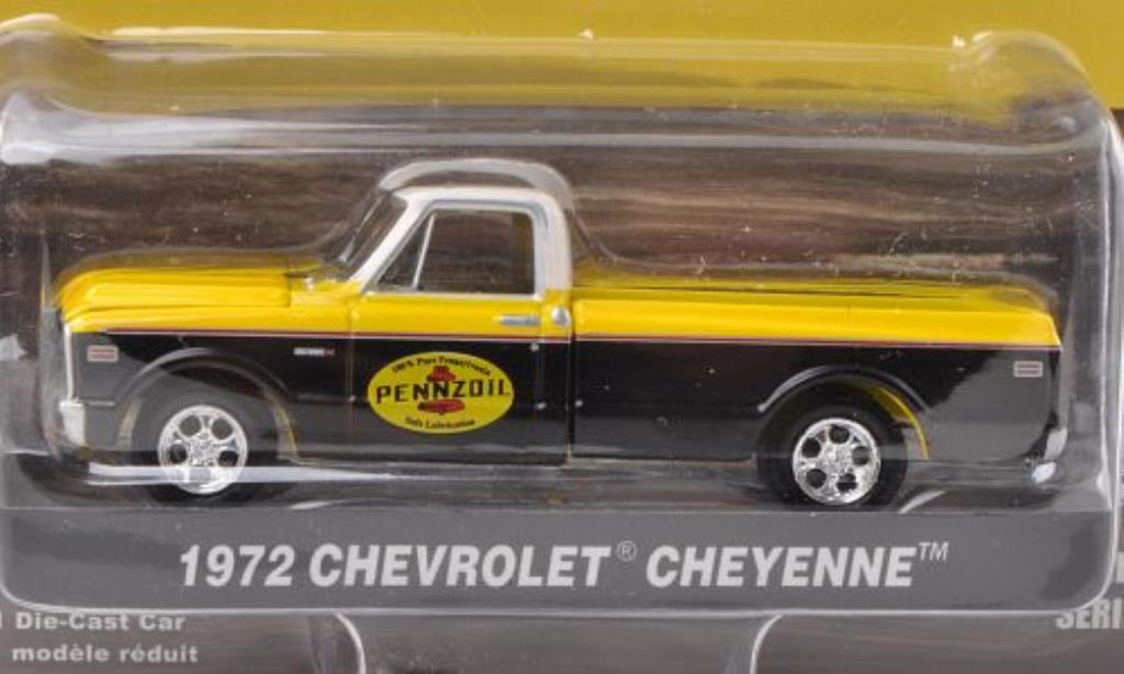 Chevrolet C-10 1/64 Greenlight Cheyenne Pennzoil 1972 miniature